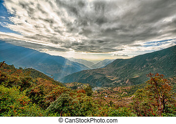 View from kalinchok Photeng towards the Kathmandu valley
