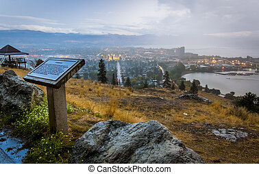 View from Knox Mountain Overlooking kelowna