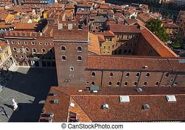 View from Lamberti Tower - Verona Italy