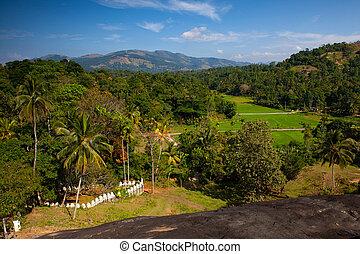 View from Lankatilaka Buddhist temple. Sri Lanka.