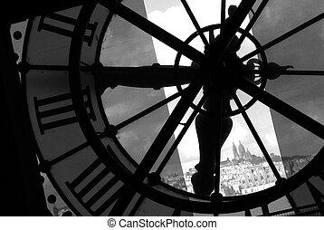 View from le Louvre in black and white - View of Paris from ...