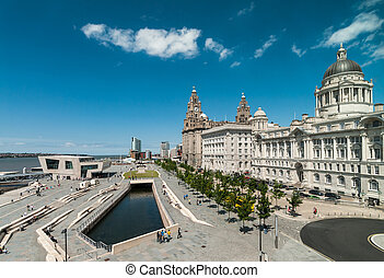 view from liverpool museum - View of liverpool waterfront...