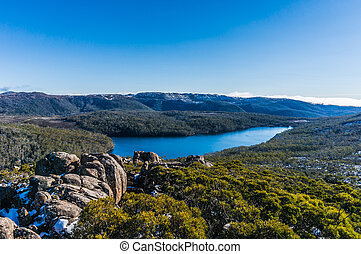 View from lookout at Mount Field National Park, Tasmania