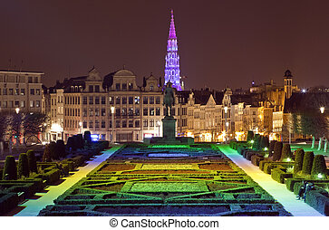 View from Mont des Arts in Brussels - The magnificent view...