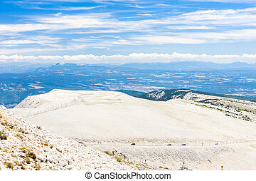view from Mont Ventoux, Provence, France