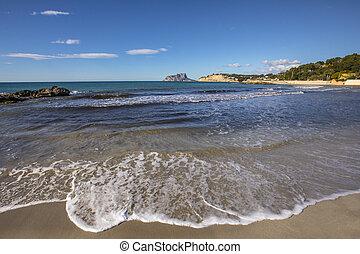 View from Moraira Beach in Spain