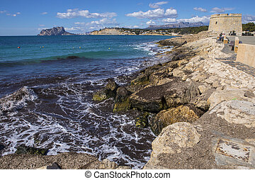 View from Moraira in Spain