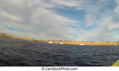 view from motorboat at sharm el sheikh