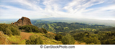 View from Mt Diablo - Panoramic view on a sunny day in...