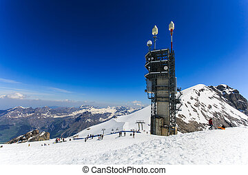 View from Mt. Titlis in Switzerland. The Titlis is a...
