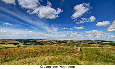 View from Old Winchester Hill - Landscape view from Old...