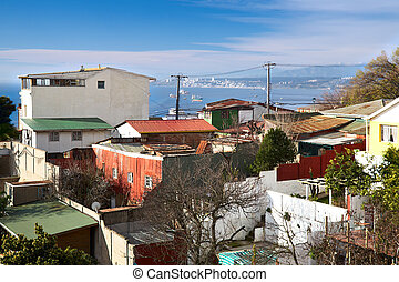 view from Pablo Neruda Museum in Valparaiso, Chile