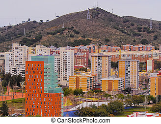 View from Parc Turo in Barcelona - Barcelona Cityscape -...