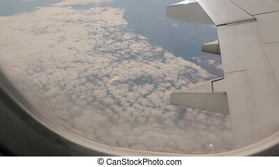 View From Plane Above Clouds