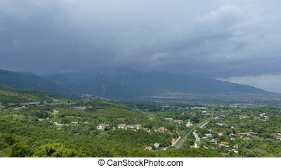 Olympus mountain and region - View from Platamonas -...