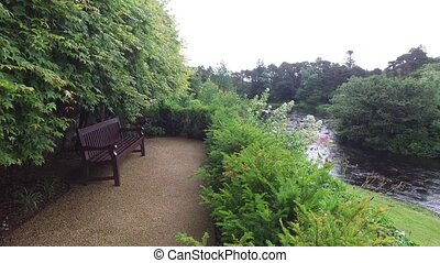 view from platform with bench to river in ireland 7 - nature...