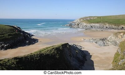 View from Porth Joke beach Cornwall - Porth Joke beach next...