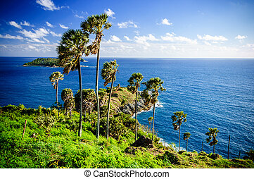 View from Promthep Cape, Phuket, southern Thailand