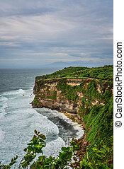 View from Pura Luhur Uluwatu temple, Bali, Indonesia. ...