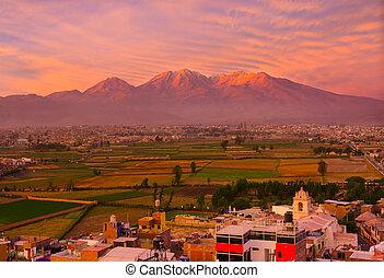 View from Sachaca District, Arequipa Peru.
