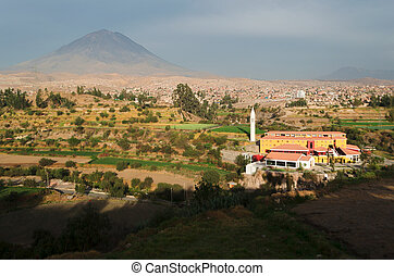 View from Sachaca District in Arequipa