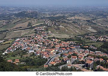 View from San Marino to Italian Coast