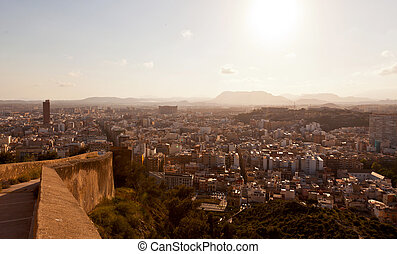 View from Santa Barbara Castle of Alicante