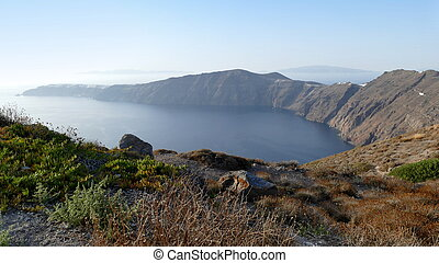 View from Santorini out to sea