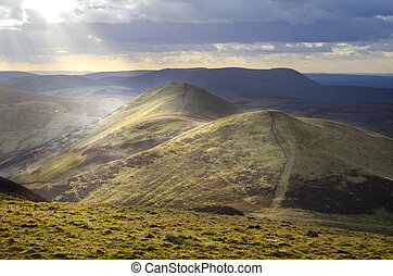View from Scald Law, Scotland - Landscape from Scotland's...