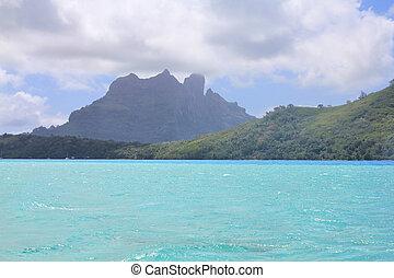 View from sea on mount Otemanu on Bora Bora island