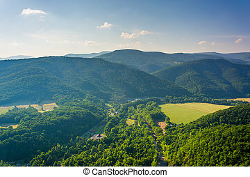 View from Seneca Rocks, Monongahela National Forest, West...