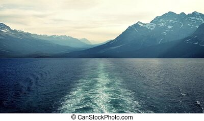 View From Ship To Mountains