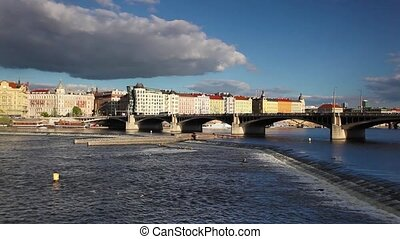 View from Smichov of Prague architecture