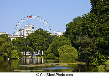 View from St. James's Park in London
