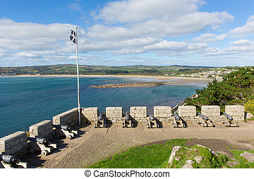View from St Michaels Mount Cornwal