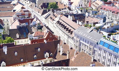 View from St. Stephen's Cathedral over Stephansplatz square...