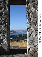 View from Stonehenge replica in Washington state, USA