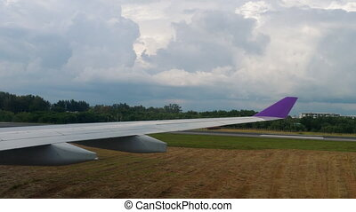 View from taxiing airplane