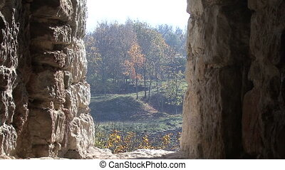 view from the battlements. Autumn.