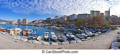 Gemlik - View from the bay of Gemlik, Bursa , Turkey