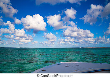 view from the boat on the Indian Ocean