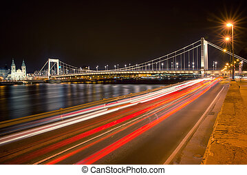Elisabeth Bridge - view from the Buda side of the Elisabeth...