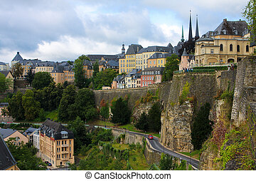 Luxembourg City - View from the Casemates on old Luxembourg...