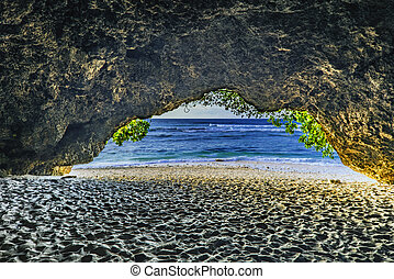 View from the cave to the sea