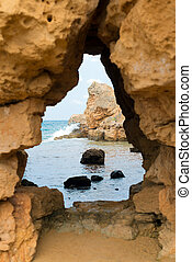 View from the cave to the sea.