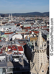 view from the church of St. Stephen in Vienna