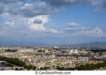 View from the Dome of St. Peter's Basilica in the Vatican City,