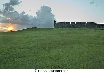 View from the El Morro fort in San Juan, Puerto Rico.