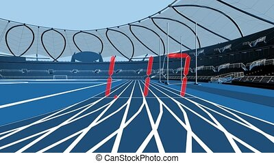View From The Eyes Of Athletes While Running 100 Meter...