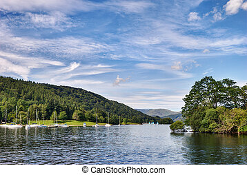 View from the Ferry House, Windermere - A view of Windermere...